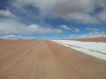 Ruta full of snow, near Laguna Colorado