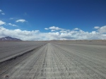 Heavily corrugated altiplano roads.
