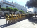 I{m sure the yellow suits are just ceremonial. Main Plaza, Sucre.