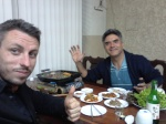 Me and Alvaro enjoying a meal at Santa Cruz's only Korean restaurant.