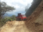 Roadworks on the way to Chulumani