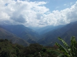 The hills of the Yungas viewed from Coroico