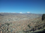 La Paz viewed from the El Alto Autopista.