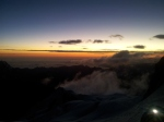 Daybreak as we near the summit