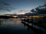 Sunset over lake Titicaca. Copacabana.