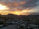 Sun setting over Ayacucho