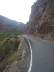 Narrow twisty asphalt fun. Road to Huancayo.