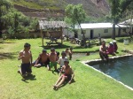 School day out at the hot springs. Road to Huancayo.