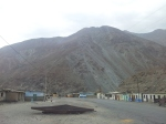 The small town of Chuquicara where I camped for the night. This is all there is.