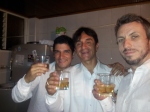 Sebastian, his uncle Jorge (the groom) and me having the first of many whiskeys of the night.