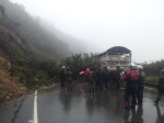 Landslide on la linea, Near Armenia.