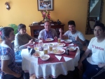 having lunch with everyone in Popayan