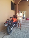Carter and his KTM, Quepos CR.