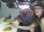 Daniel, Carolina and Laeticia enjoying typical Guatemalan food in the central market.