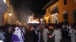 Night time Easter processions in Antigua, Guatemala.
