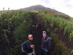 Climbing Volcano Acatenango with Armando.