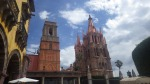 Cathedrals in San Miguel's main plaza 'el jardin'.