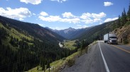 Views on the road from Ouray to Silverton. Colorado.