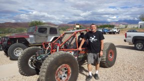 Steve at 4x4 Outpost with some of his more usual work, constructing bespoke off-road monsters like this 'Rock Crawler'.