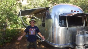 My Moab Neighbour. Gary from Idaho in his shiny Airsteam home from home.