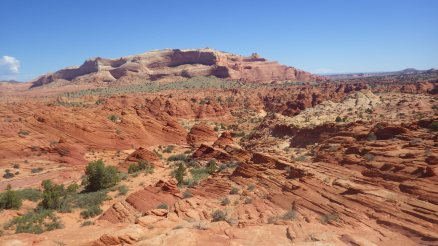 Hiking to the The Wave through North Coyote Buttes, Utah.